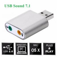 USB Sound 7.1 card âm thanh 3D vỏ nhôm cao cấp