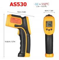 Máy đo nhiệt độ hồng ngoại kỹ thuật số công nghiệp AS530