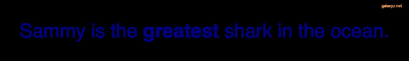 Văn bản được hiển thị bằng màu xanh nước biển với trọng lượng phông chữ bình thường, ngoại trừ từ trong thẻ <strong> được in đậm.