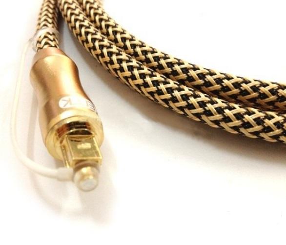 Cáp quang Audio 1.5m chính hãng ETK mạ vàng 24k