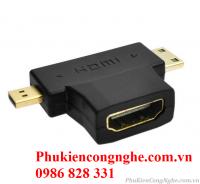 Đầu Chuyển Mini / Micro HDMI to HDMI 3in1