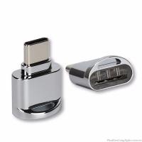 Đầu USB Type-C đọc thẻ Micro SD Metal bạc